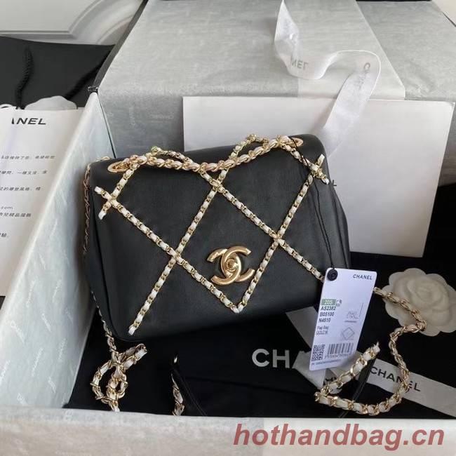 Chanel flap bag AS2382 black & white