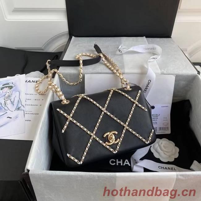 Chanel flap bag AS2383 black & White