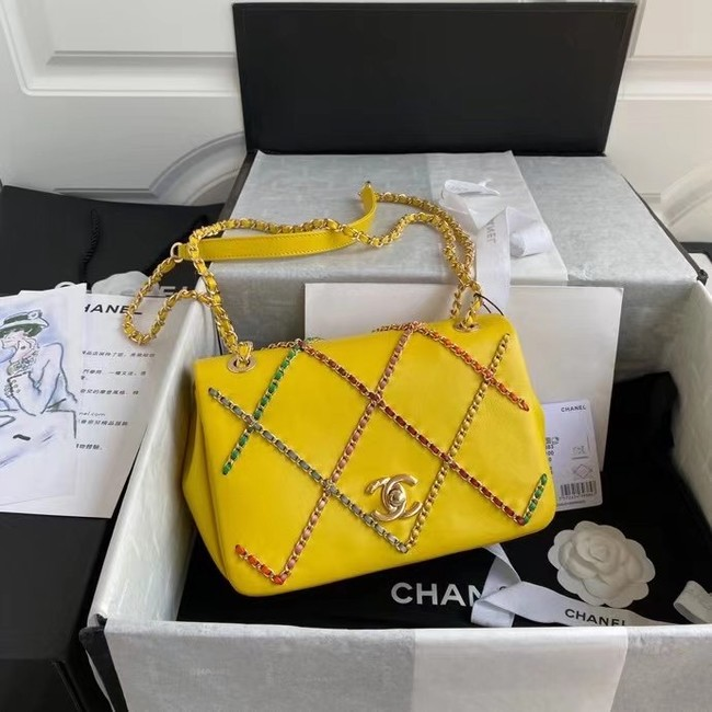 Chanel flap bag AS2383 yellow & Multicolor