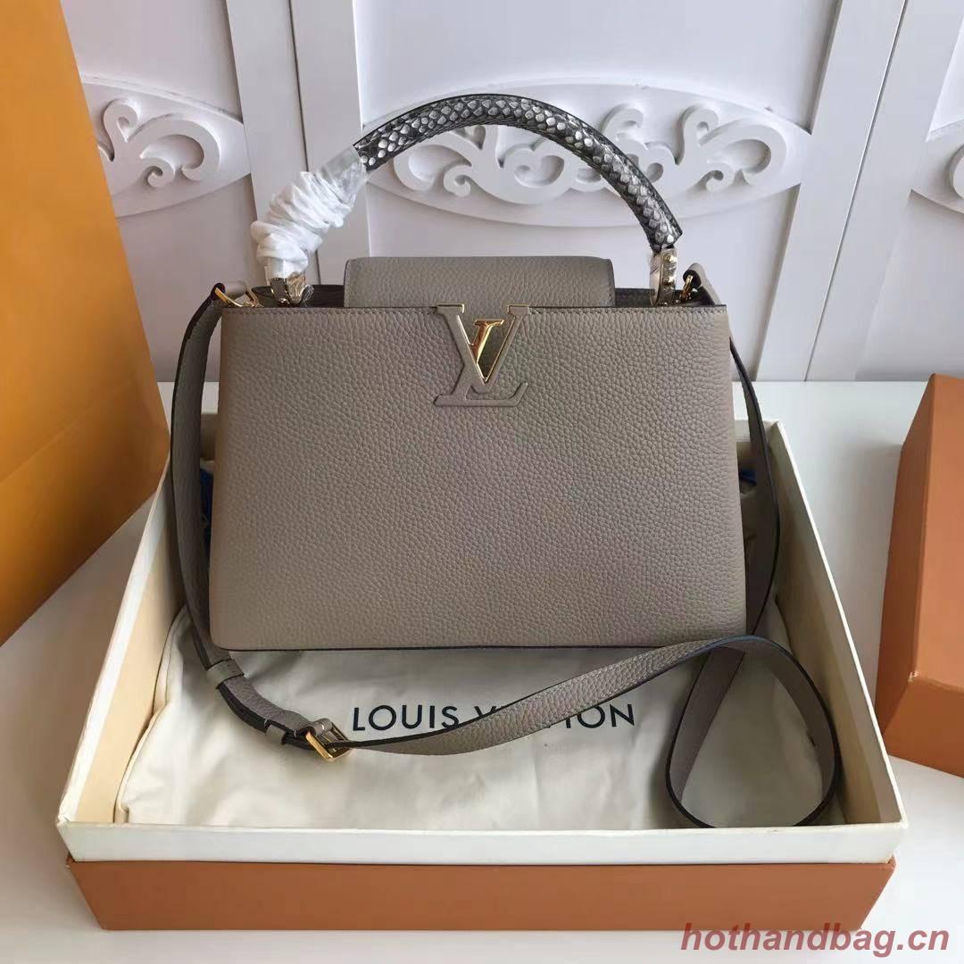 Louis Vuitton CAPUCINES PM M52386 grey