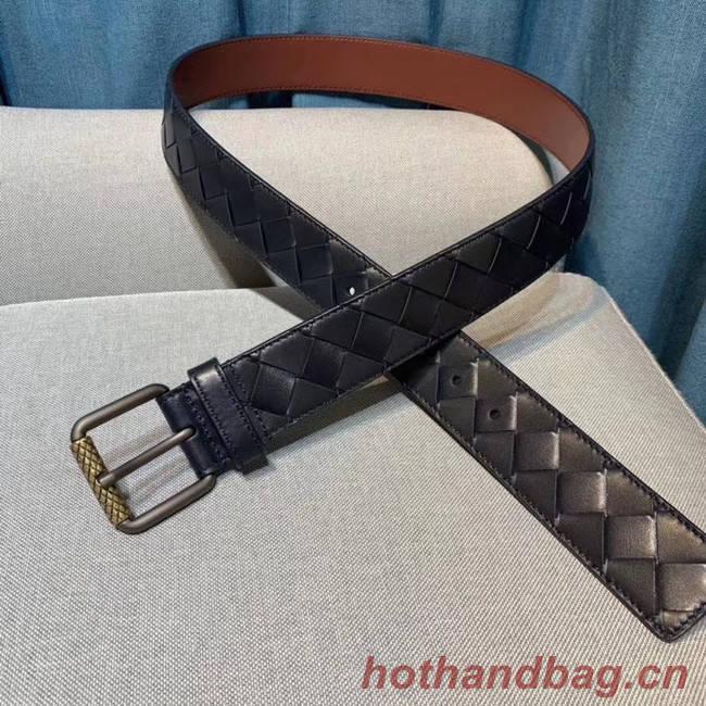 Bottega Veneta Intrecciato Nappa Belt 5567 black