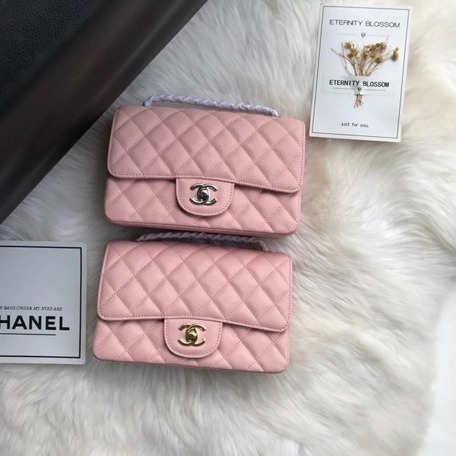 Chanel mini flap bag Grained Calfskin A1116 pink
