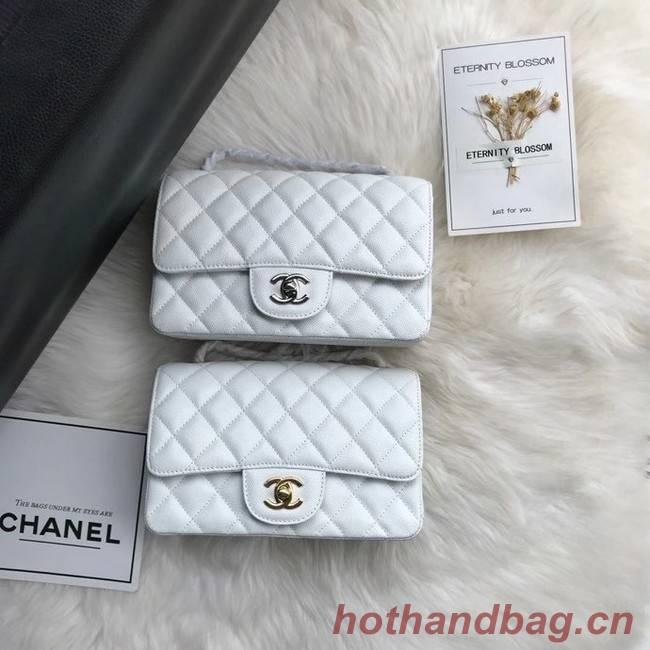 Chanel mini flap bag Grained Calfskin A1116 white