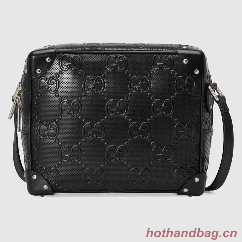 Gucci GG embossed shoulder bag 626363 Black