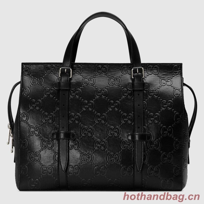 Gucci GG embossed tote bag 625774 Black
