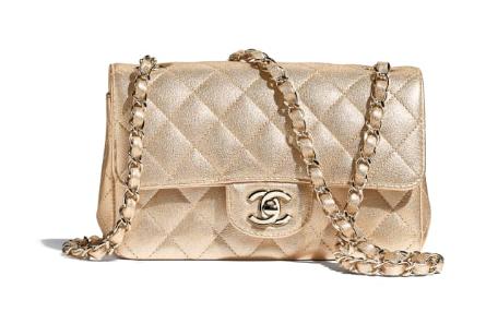 Chanel mini flap bag Grained Calfskin A1116 gold