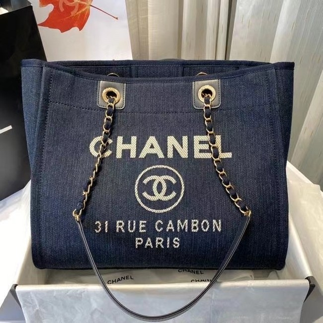 Chanel 19SS Shopping bag A67001 royal blue