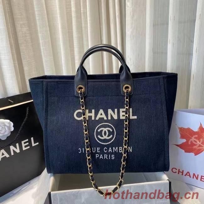 Chanel large shopping bag A66941 royal blue