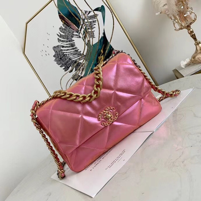 Chanel 19 flap bag AS1161 Pink
