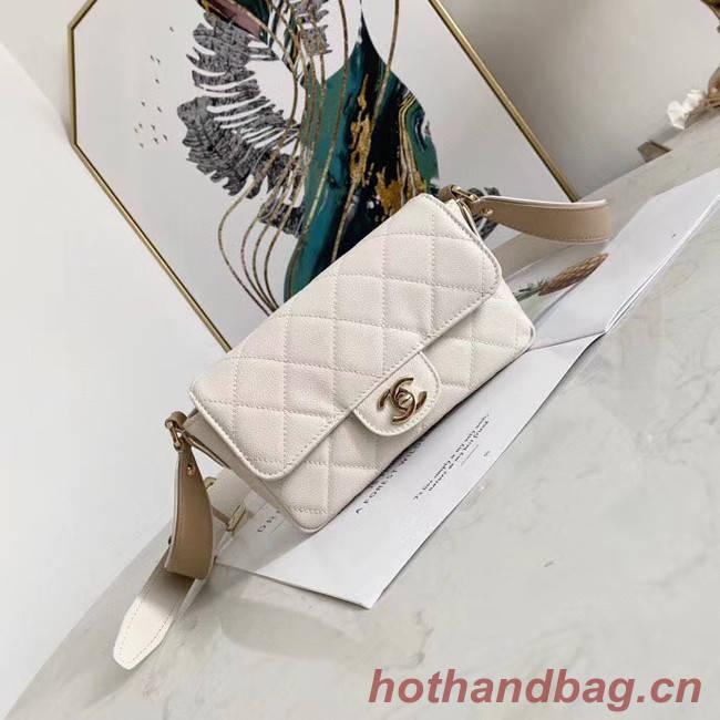 Chanel flap bag AS2273 White