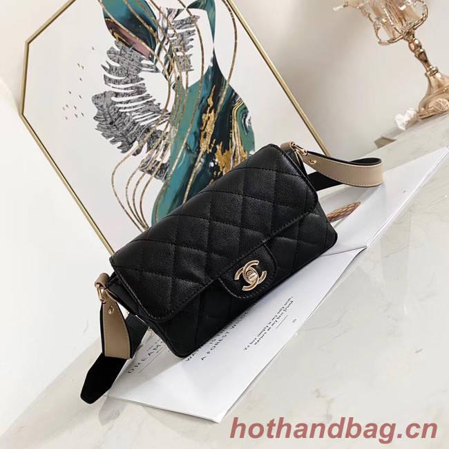 Chanel flap bag AS2273 black