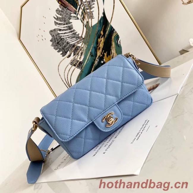Chanel flap bag AS2273 light blue