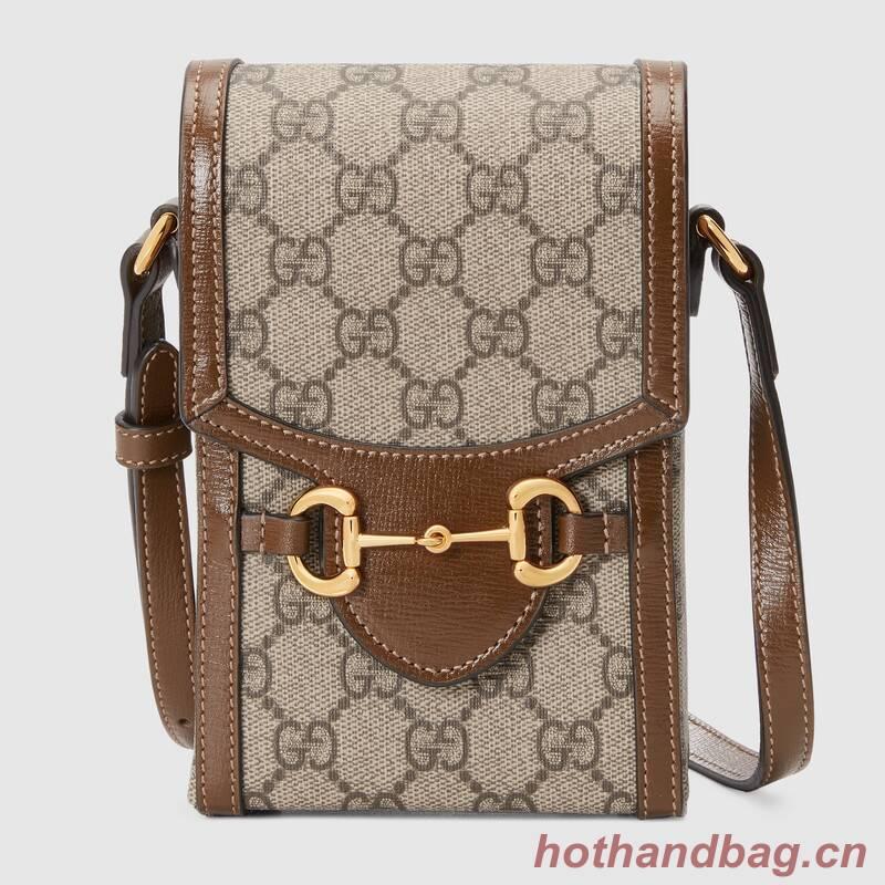 Gucci Horsebit 1955 mini bag 625615 brown