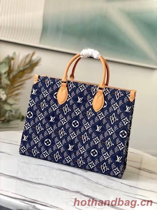 Louis Vuitton SINCE 1854 Onthego medium tote bag M57396 blue