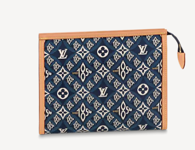Louis Vuitton SINCE 1854 POCHE TOILETTE 26 M80306 blue