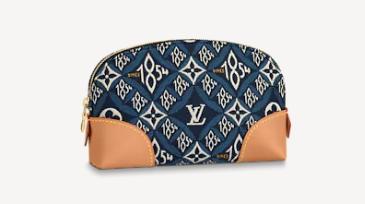 Louis Vuitton SINCE 1854 POCHETTE COSMETIQUE M80307 blue
