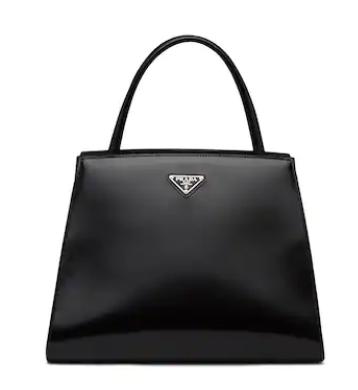 Prada Brushed leather handbag 1BA321 black