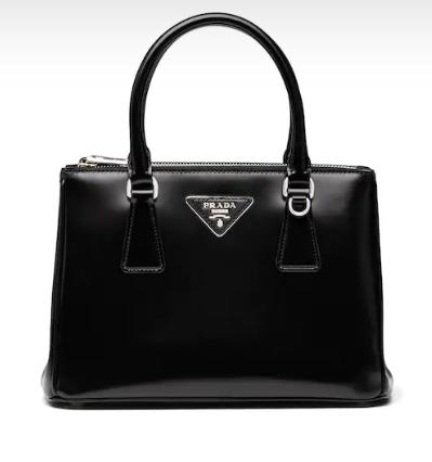 Prada Galleria brushed leather bag 1BA896 black