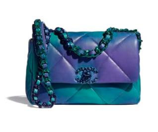 chanel 19 flap bag AS1160 AS1161 Blue & Purple