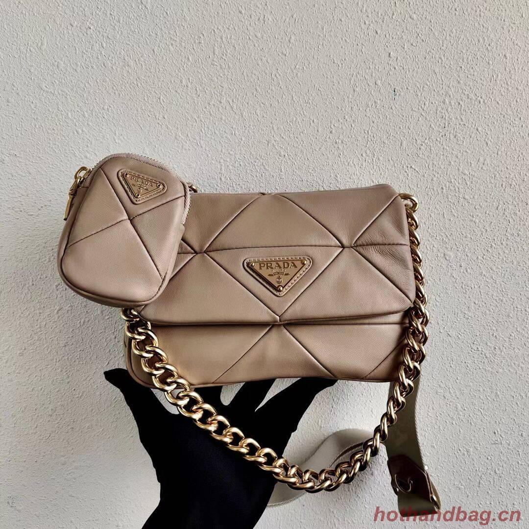 Prada Gaufre nappa leather shoulder bag 1BD292A Biscuits