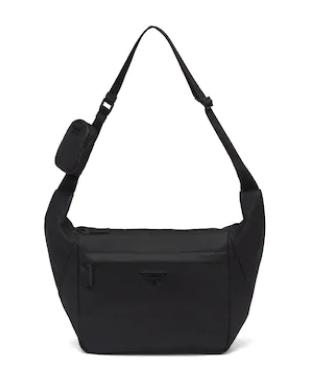 Prada Leather shoulder bag 2VH125 black