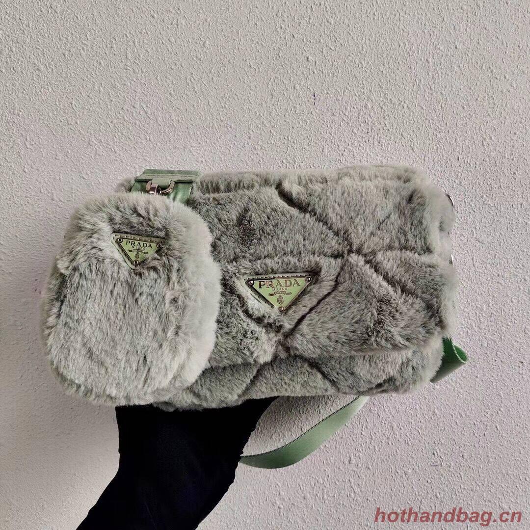 Prada Mink hair shoulder bag 1BC292M light green