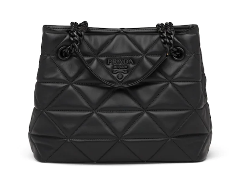 Prada Nappa Leather Prada Spectrum Tote 1BG298 black