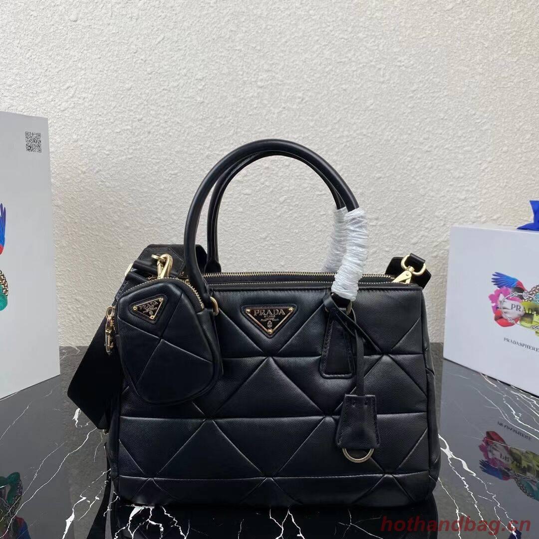 Prada Nappa Leather Prada Spectrum Tote 1BG863 black