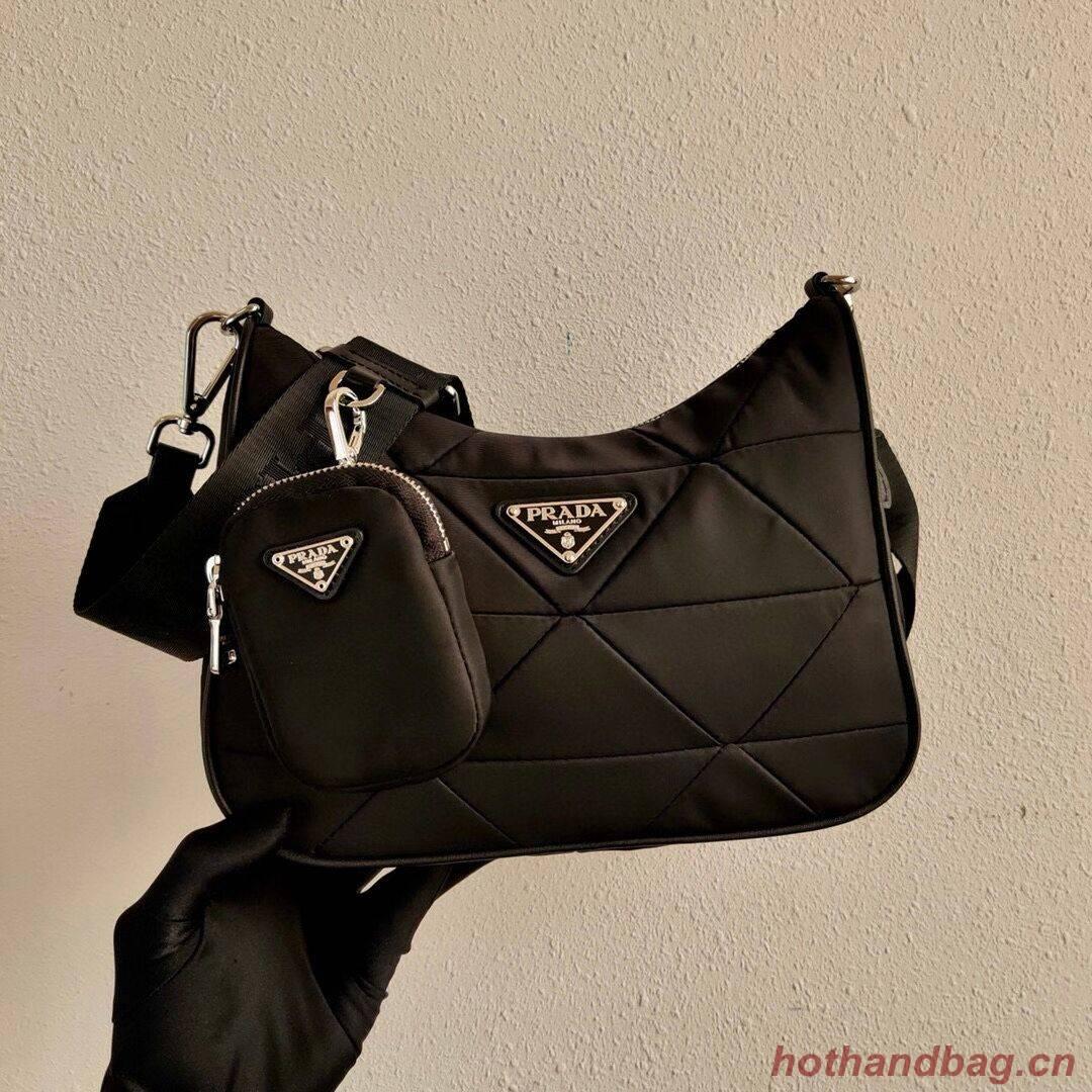 Prada Re-Edition nylon shoulder bag 1BC151A black