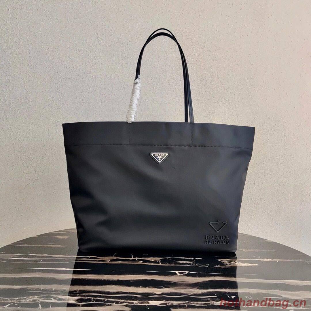 Prada Re-Edition nylon tote bag 1BG107 black
