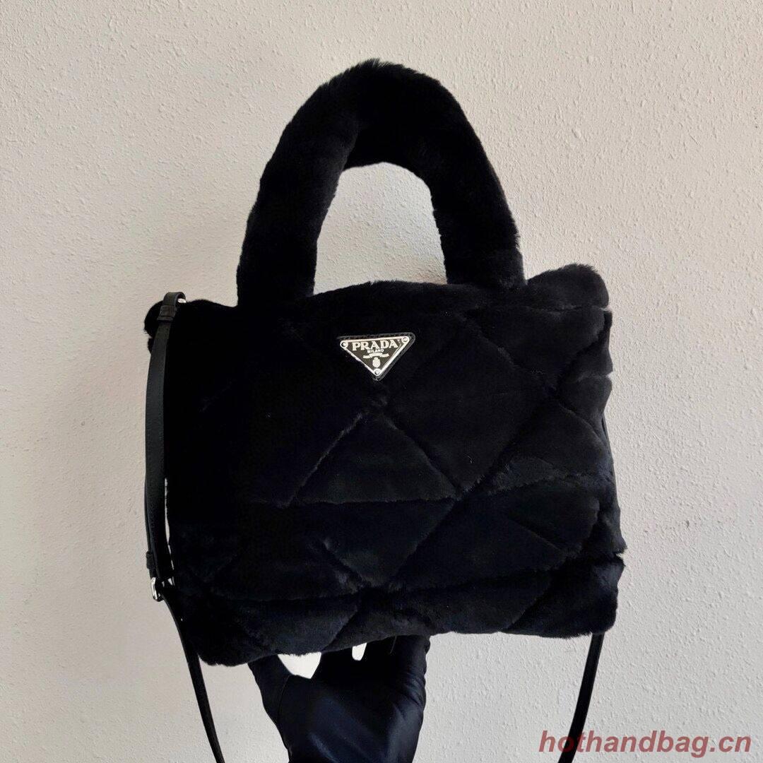 Prada Shearling tote 1BG378 black