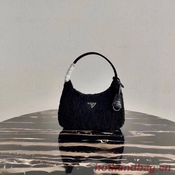 Prada Shearling tote mini-bag 1NE515 black
