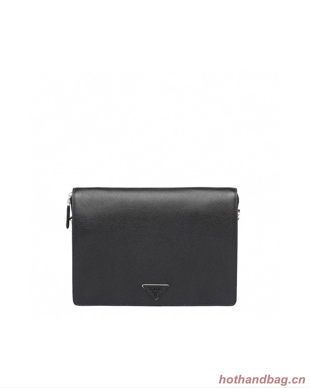 Prada leather shoulder bag 2VD012 black