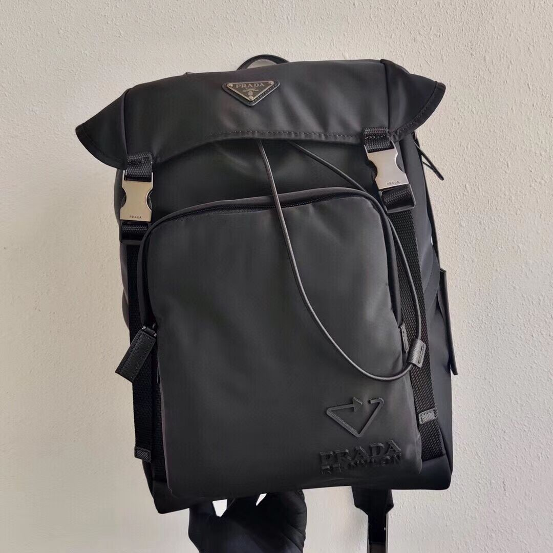 Prada Technical fabric backpack 2VZ135X black