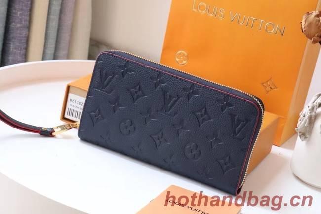 Louis Vuitton Original Monogram Empreinte Wallet M60571 Navy Blue