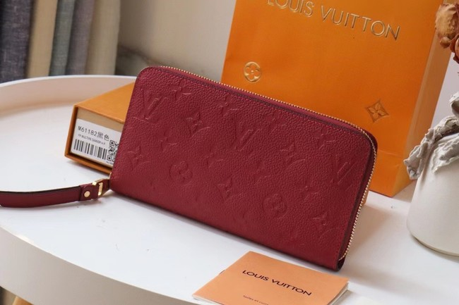 Louis Vuitton Original Monogram Empreinte Wallet M60571 Wine