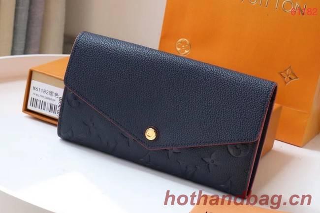Louis Vuitton Original Monogram Empreinte Wallet M61182 Navy Blue