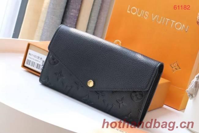 Louis Vuitton Original Monogram Empreinte Wallet M61182 black