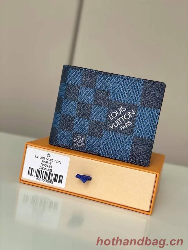 Louis vuitton Monogram Canvas Wallet N60434 blue