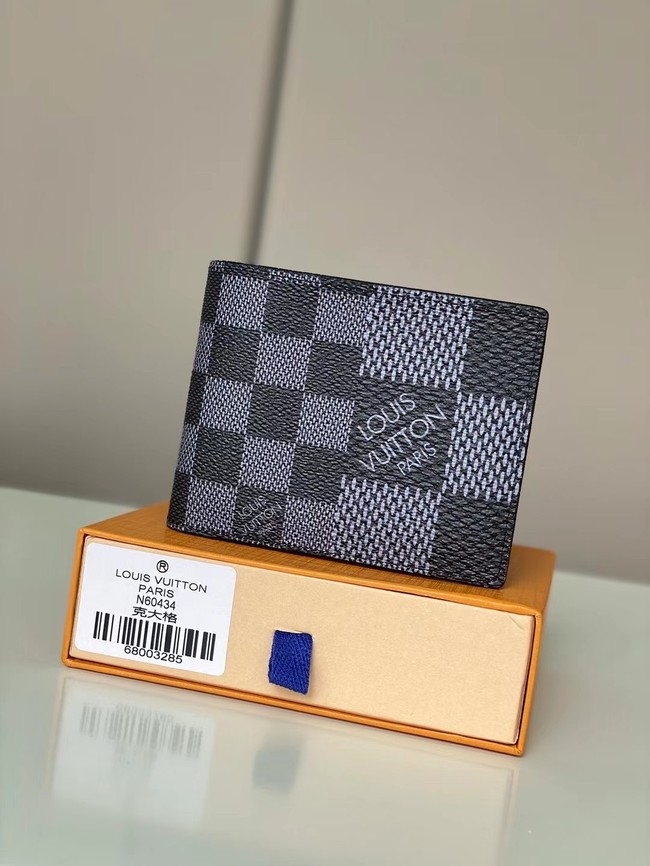Louis vuitton Monogram Canvas Wallet N60434 grey