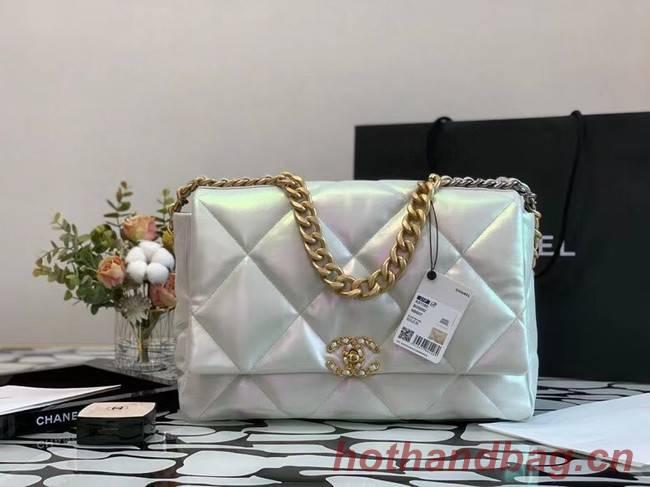 chanel 19 large flap bag Iridescent Calfskin&Gold-Tone AS1162
