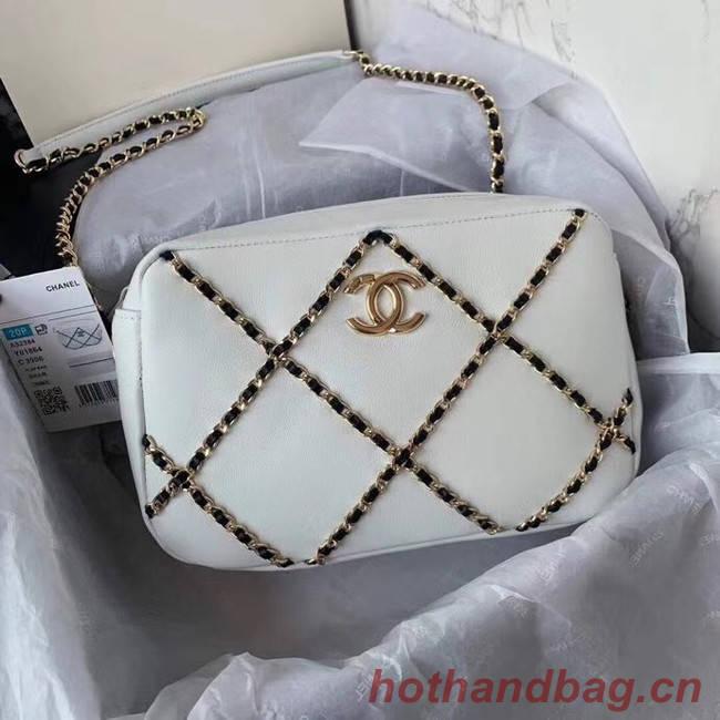 Chanel cross-body bag  AS2384 White & black