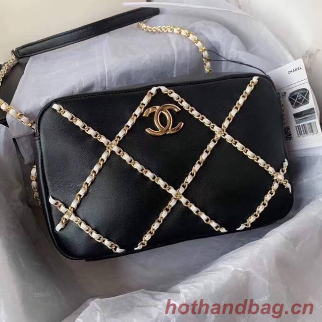 Chanel cross-body bag AS2384 black & white