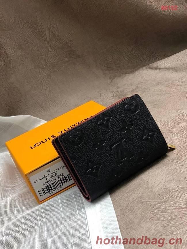 Louis Vuitton Original Monogram Empreinte CLEA WALLET M80152 Navy Blue