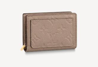 Louis Vuitton Original Monogram Empreinte CLEA WALLET M80152 Tourterelle Beige