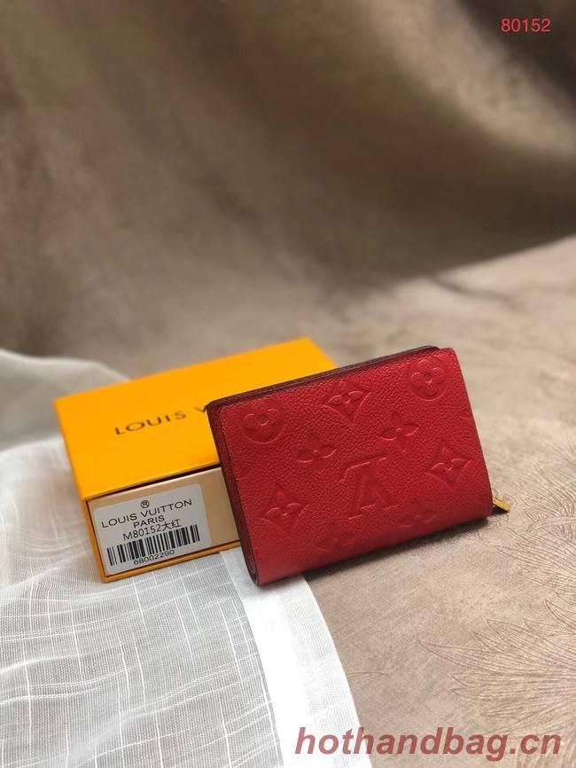 Louis Vuitton Original Monogram Empreinte CLEA WALLET M80152 red
