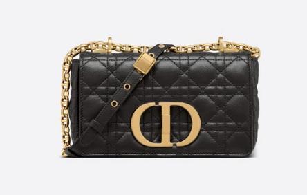 Dior SMALL DIOR CARO BAG Black Soft Cannage Calfskin M9241