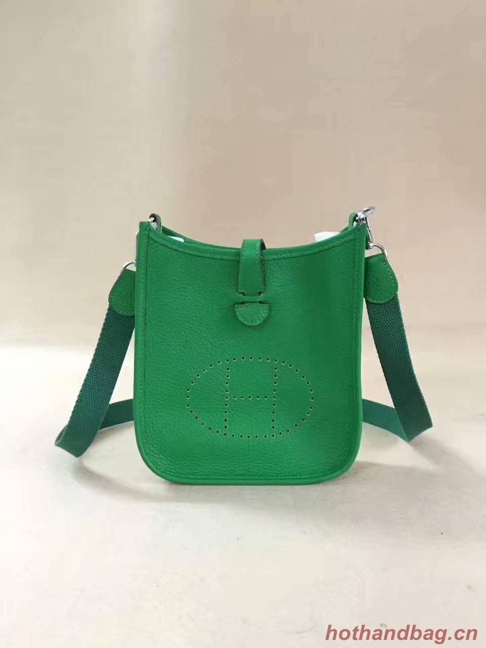 Hermes Evelyne original togo leather mini Shoulder Bag H15698 green