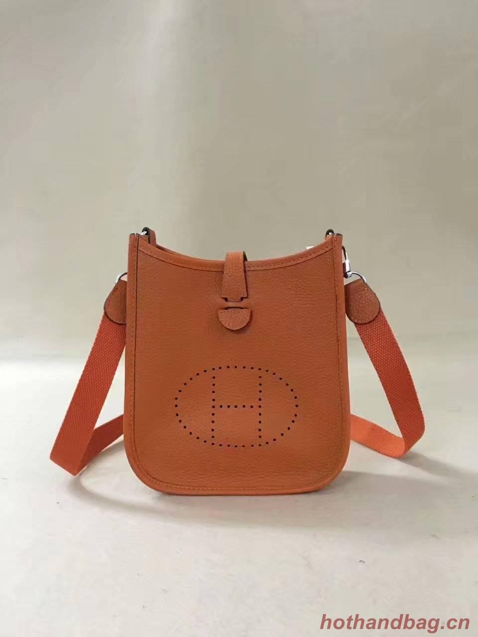 Hermes Evelyne original togo leather mini Shoulder Bag H15698 orange