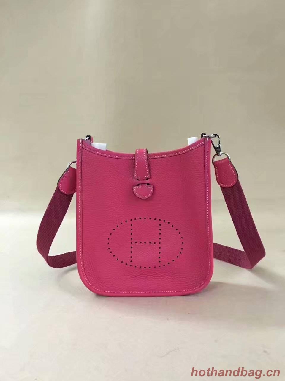 Hermes Evelyne original togo leather mini Shoulder Bag H15698 rose